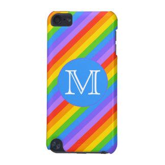 あなたの手紙、虹のストライプなモノグラム iPod TOUCH 5G ケース