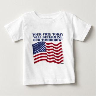 あなたの投票は今日私達の明日定めます! ベビーTシャツ