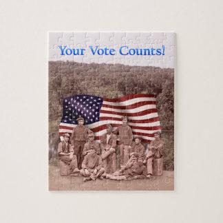 あなたの投票計算-市民戦争のパズル ジグソーパズル