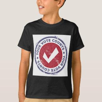 あなたの投票計算 Tシャツ