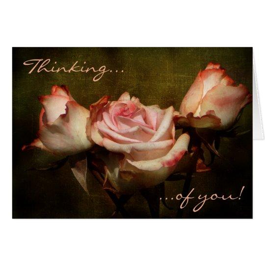 あなたの挨りだらけにバラの考えること挨拶状 カード