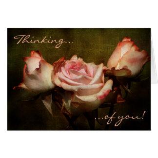 あなたの挨りだらけにバラの考えること挨拶状 グリーティングカード