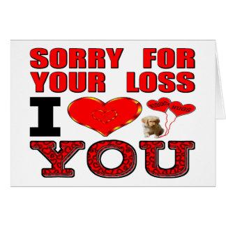 あなたの損失I愛のために残念 カード