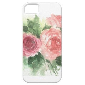 あなたの携帯電話の美しく柔らかい水彩画のバラ iPhone SE/5/5s ケース