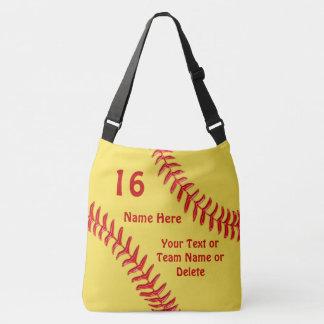 あなたの文字および色のカスタムなソフトボールのバッグ クロスボディバッグ