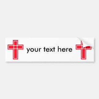 あなたの文字のためのキリスト教の十字のバンパーステッカー バンパーステッカー