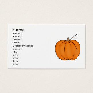 あなたの文字のための大きい秋のカボチャ名刺 名刺