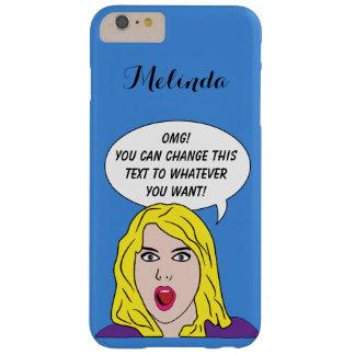 あなたの文字のカスタムな電話箱を持つレトロの女性 BARELY THERE iPhone 6 PLUS ケース