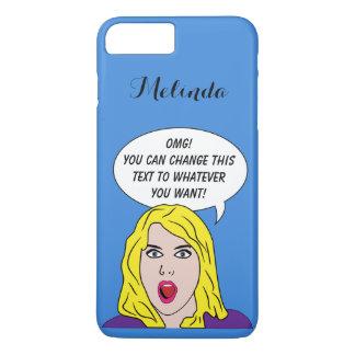 あなたの文字のカスタムな電話箱を持つレトロの女性 iPhone 8 PLUS/7 PLUSケース