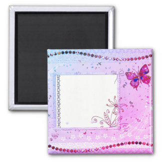 あなたの文字のピンクおよび紫色の磁石を加えて下さい マグネット