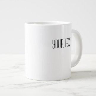 あなたの文字の白い陶磁器のジャンボマグのテンプレート ジャンボコーヒーマグカップ