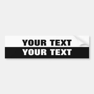 """あなたの文字""""フォリオ余分にはっきりしたな""""の白黒 バンパーステッカー"""