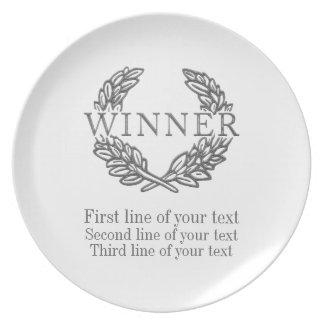 あなたの文字/賞/情報が付いている勝者のプレート プレート