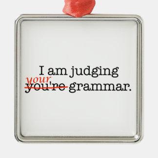 あなたの文法の判断 メタルオーナメント