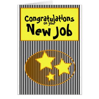 あなたの新しい仕事のお祝いは及びストリップ主演します カード