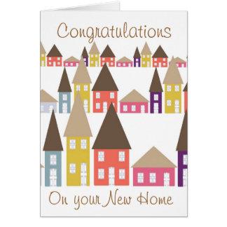 あなたの新しい家のお祝い グリーティングカード