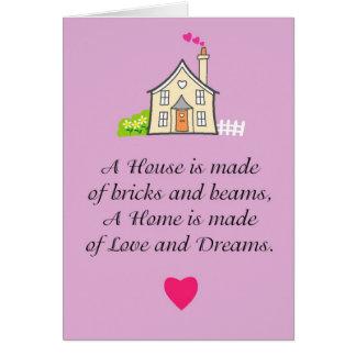 あなたの新しい家の愛そして最高のな願い グリーティングカード
