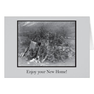 あなたの新しい家を楽しんで下さい! ノートカード