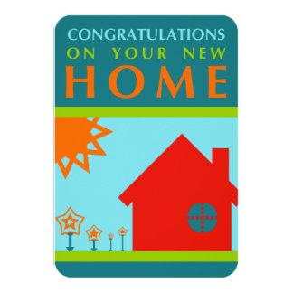 あなたの新しい家(crayolaの形)のお祝い カード