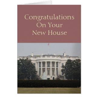 あなたの新居の新しい家のお祝い グリーティングカード