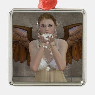 あなたの方法を来ている天使のキス メタルオーナメント