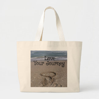 あなたの旅行を愛して下さい ラージトートバッグ