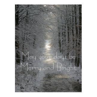 あなたの日はメリーで、明るい休日であるように ポストカード