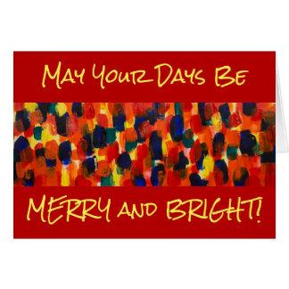 あなたの日はメリー、明るいように カード