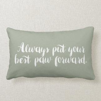 あなたの最も最高のな足の-枕を常に先に置いて下さい ランバークッション