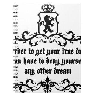 あなたの本当の夢の中世引用文を得るため ノートブック