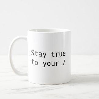 あなたの根に本当滞在 コーヒーマグカップ
