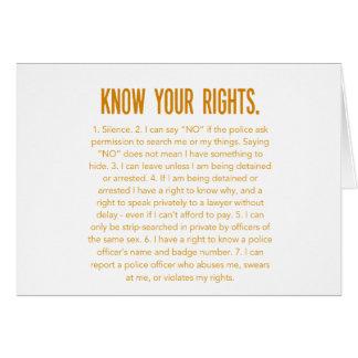 あなたの権利を知って下さい カード