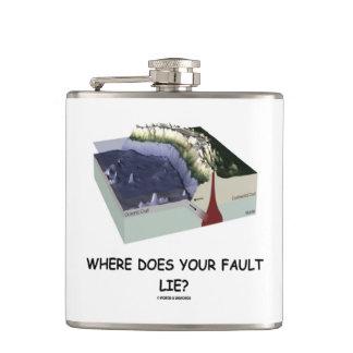 あなたの欠陥はどこにありますか。 地質学のユーモア フラスク