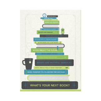 あなたの次の本は何ですか。 キャンバスプリント