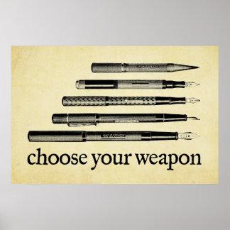 あなたの武器を選んで下さい ポスター