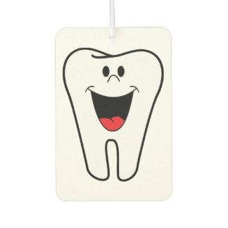 あなたの歯科練習のためにカスタマイズ可能な幸せな歯 カーエアーフレッシュナー