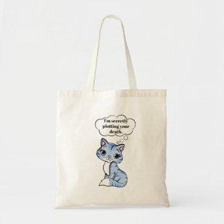 あなたの死を計画しているおもしろいな子猫猫 トートバッグ