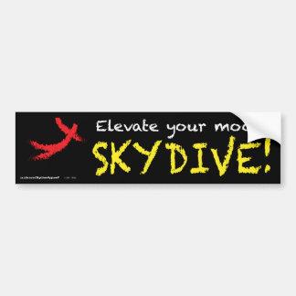 あなたの気分を上げて下さい。 SKYDIVE! バンパーステッカー