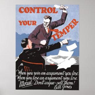 あなたの気性を制御して下さい ポスター