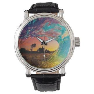 あなたの波を保っている間時間を保って下さい 腕時計