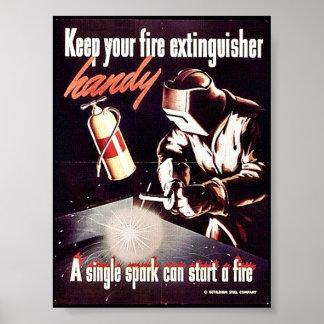 あなたの消火器を便利保って下さい ポスター