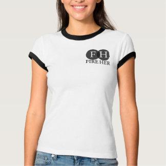 あなたの火彼女の責任能力の女性信号器のTシャツ Tシャツ