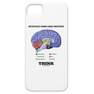 あなたの灰白質を考えます活動化させて下さい(解剖頭脳) iPhone SE/5/5s ケース