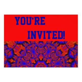 あなたの熱狂するで赤いパーティの招待状を個人化して下さい カード