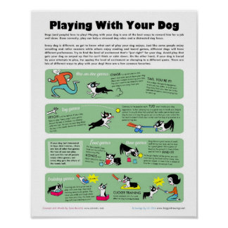 あなたの犬と遊ぶこと ポスター