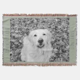 あなたの犬、名前入りでユニークな毛布 スローブランケット