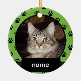 あなたの猫のための名前入りなクリスマスのオーナメント セラミックオーナメント