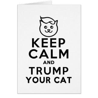 あなたの猫を切札で取って下さい- Iは持っていますWite Hausをできますか。 カード