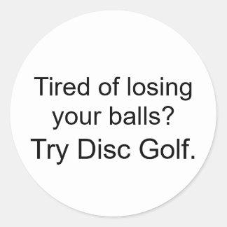 あなたの球の損失に疲れさせているか。試みディスクゴルフ ラウンドシール