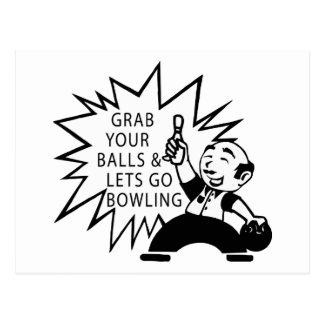あなたの球をつかんで下さい及びボーリングをすることを行くために割り当てます ポストカード